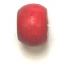 Wood Crowbeads 9/6.5mm Red